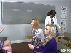 Naughty students fucked by their teacher