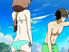 Hentai fille in bikini baisée