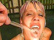 Deepthroating with cumshot