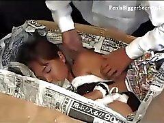 Jav criancinha em a mais quente roupa de coelhinho
