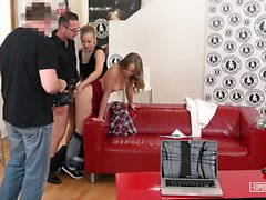 EXPOSED CASTING - Czech babe auditioned and fucked in FFM