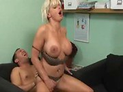 Blonde milf in boots creampie