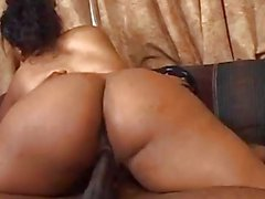 Far horny ebony babe drilled by another big black dick