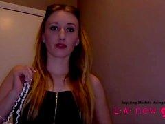 supermodel gives blowjob at photo shoot audition