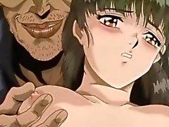 Rop anime blir kramade sina tuttar