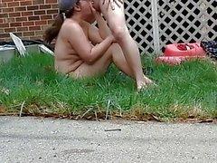 Paar ficken vor den Nachbarn, WIEDER!