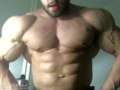 Muscle chaud Les hommes se flexionnent et montrent leur coq et leur cul