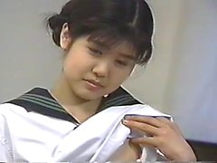 Japanese video with a hot girl masterbating