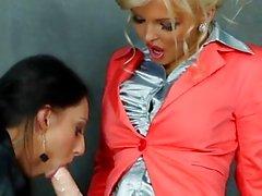 Bukkake femdom toying Euro Lesben
