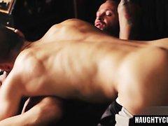 Big dick gay spanking and cumshot