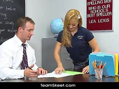 Alluring gymnast blonde teen Lea Lexis gets a wild hot fuck