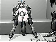 3D Space Girl with Huge Boobs!