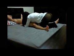Моя жена Анна: 【 】 E1 Black Stocking & белая рубашка