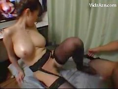 Busty Girl In Sexy Stocking Getting Her Pussy Fucked Cum To Mouth Sucking Cock On The Bed Jerking Off Again