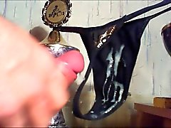 Sperma auf Nicole String schmutzige Muschi Rahm Schnur