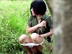 Pissin salope de asiatique à Parc