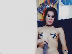 Concupiscent Transseksüel Playgirl Livecam Üzerinde Vidalı Hardcore