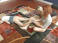 Stepmother and friend use a teen girl