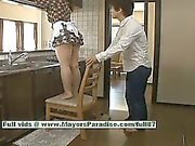 Nao Ayukawa hot girl hot Chinese model likes fucking in the kitchen