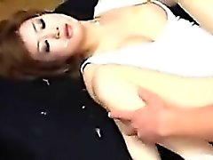 Japanese Beauty With A Bush Getting Fucked