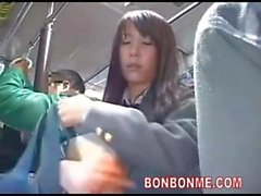 schoolgirl blowjob and fucked by geek on bus 03