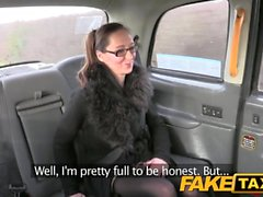 Fake Taxi Big tits tattoos and sexy glasses
