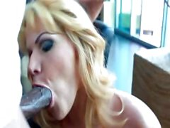 Angelina Castro is a blonde with big hooters who does a black shaft