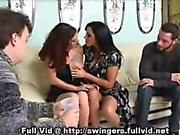 Swingers Undress For Foursome