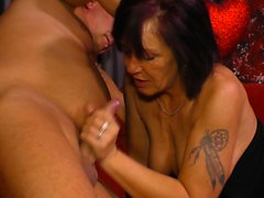 XXX OMAS - Inked German granny sucks and fucks like a nympho
