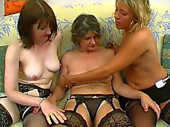Mature Christelle fucked in a group sex orgy