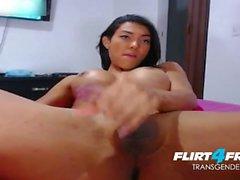Tranny Foot Tease & Big Cum