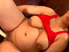 Big tits pregnant casting with cumshot