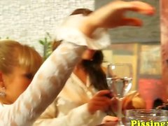 European pissloving groupsex with glam babes