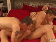 gays Sexy claquaient en trio
