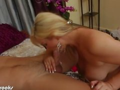 Busty blonde Abbey Brooks blow a big dick