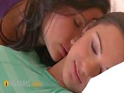 ORGASMS Nervous teens pussy soaking wet being licked by older lesbian friend