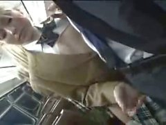 Kayla Marie Schoolgirl Handjob On Bus (Censored But Sexy)
