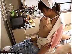 Dama asiática que A enfermeira Voyeur do sexo
