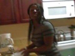 Black Ghetto Girl Fucked Hard by a Big Black Cock