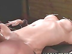 Busty Milf Fucked Hard In Pussy Ass And Mouth