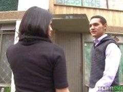 Oyeloca Фрироллы Латина подругу Линда Ньевес трахнул со спермой на лице