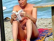 Mature Nudist Amateurs Beach Voyeur - MILF Close-Up Pussy
