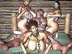 3D Slave Whores!