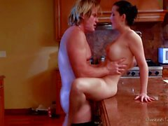 Passionate kitchen sex with Angell Summers