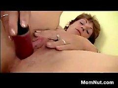 Mature Mom Masturbates With Her Dildo