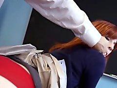 Redhead Hochschul jugend Ficksahne