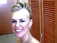 Blonde neuken een BBC , haar jongen filmen !