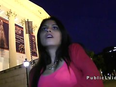 Beautiful Romainian amateur fucks in public pov