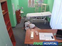 FakeHospital секси новая медсестрой нравится работать своего нового боссом