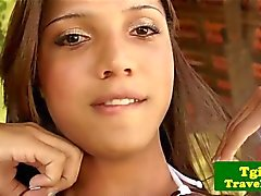 Brasilian tgirl Aninha smed solo